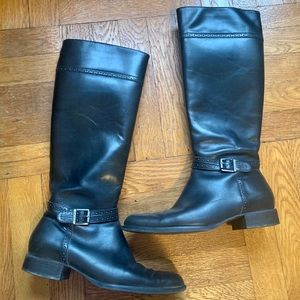 Ralph Laurent Tall Leather Riding Boots
